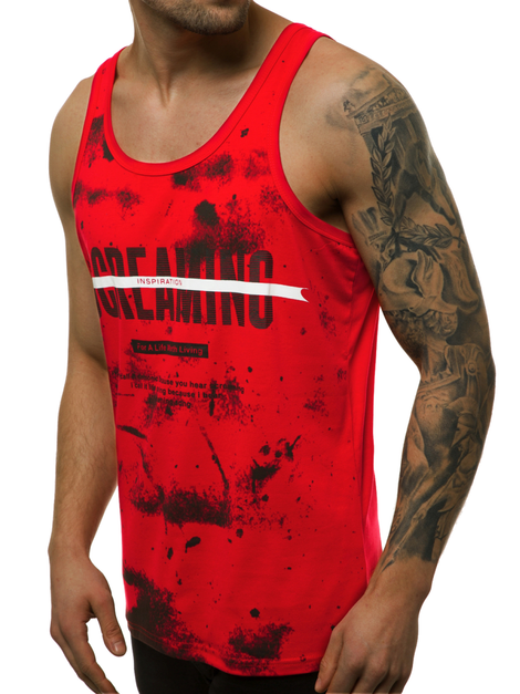 Men's Tank Top - Red OZONEE JS/SS11053
