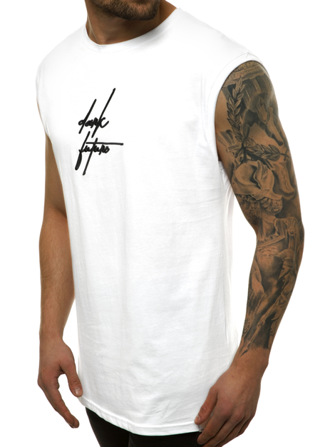 Men's Tank Top - White OZONEE MACH/M1176