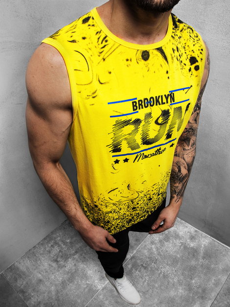 Men's Tank Top - Yellow OZONEE JS/KS2075Z