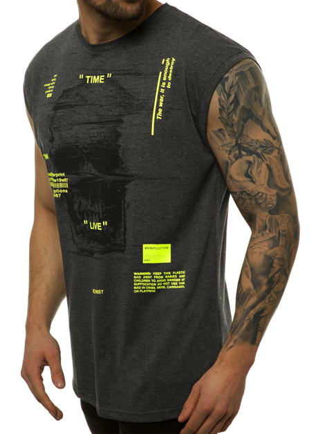 Men's Tank Top - graphite-yellow OZONEE MACH/M1212