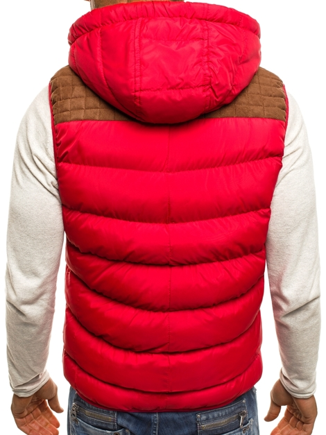 NATURE 4806 Men's Gilet - Red