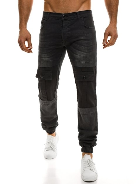 OTANTIK 828 Men's Jogger Jeans - Black
