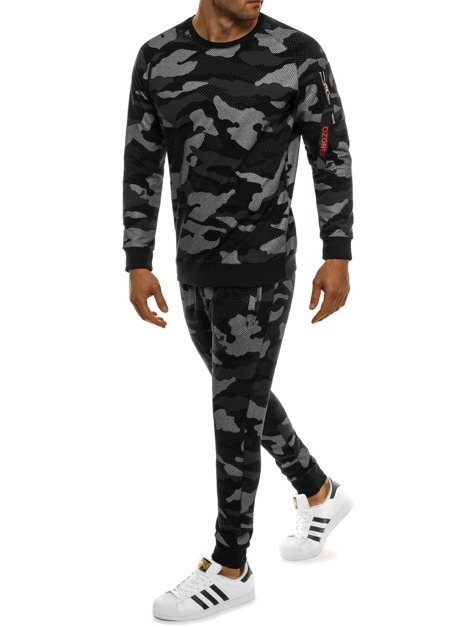 OZONEE 0937 Men's Tracksuit - Camo-Black