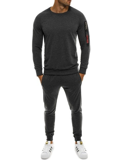OZONEE 0937 Men's Tracksuit - Dark grey