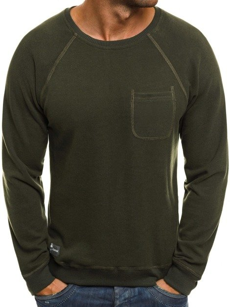 OZONEE 1151B Men's Sweatshirt - Green