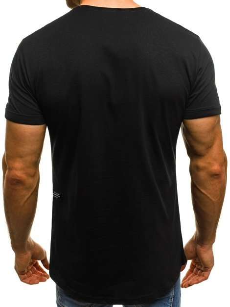 OZONEE B/181000  Men's T-Shirt - Black
