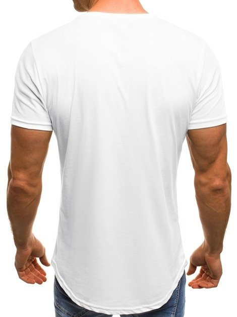 OZONEE B/181152 Men's T-Shirt - White