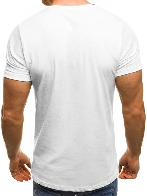 OZONEE B/181168 Men's T-Shirt - White
