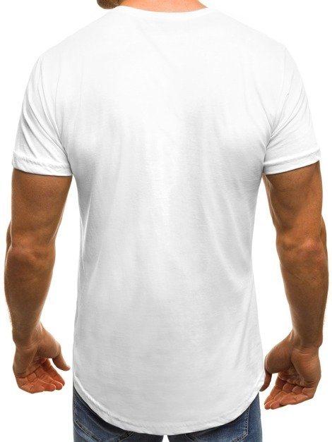 OZONEE B/181199 Men's T-Shirt - White-Black