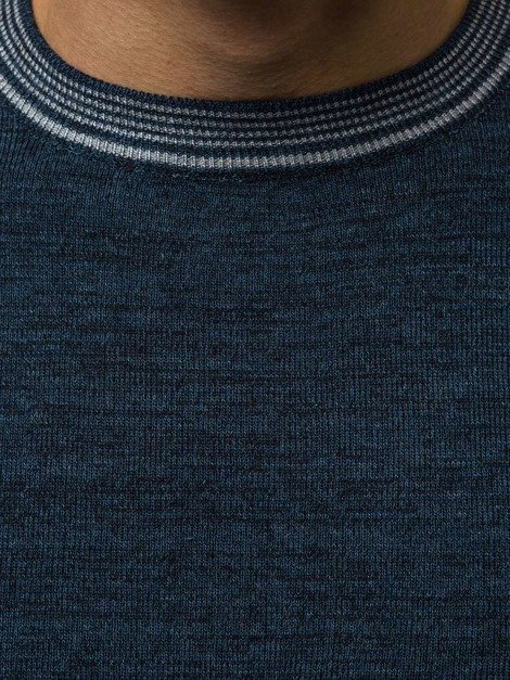 OZONEE HR/1832 Men's Jumper - Navy blue