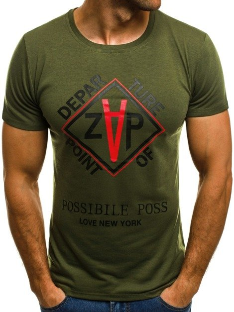 OZONEE JS/5032 Men's T-Shirt - Green