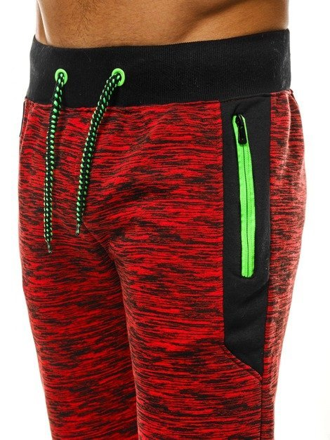 OZONEE JS/55053 Men's Sweatpants - Red