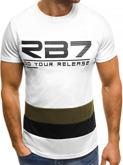 OZONEE JS/SS319 Men's T-Shirt - White