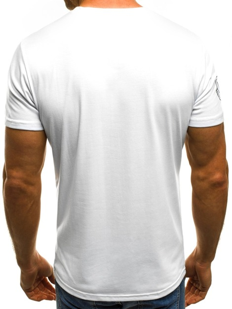 OZONEE JS/SS357 Men's T-Shirt - White