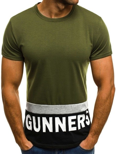 OZONEE JS/SS505 Men's T-Shirt - Green
