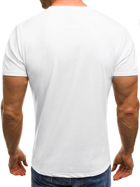 OZONEE JS/SS506 Men's T-Shirt - White