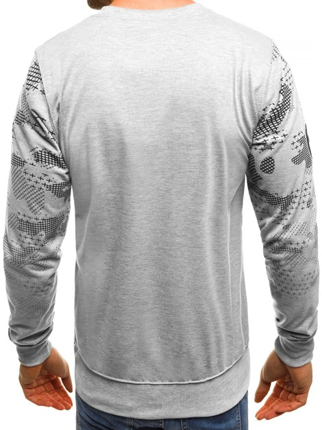 OZONEE JS/TT29 Men's Sweatshirt - Grey