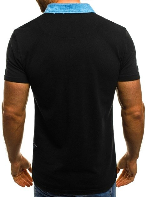 OZONEE MECH/2055 Men's Polo Shirt - Black