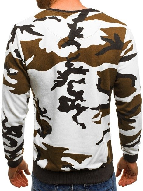 OZONEE MECH/2060 Men's Sweatshirt - White