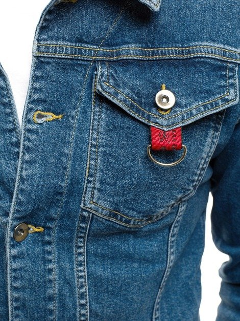 OZONEE OT/2025 Men's Denim Jacket - Blue