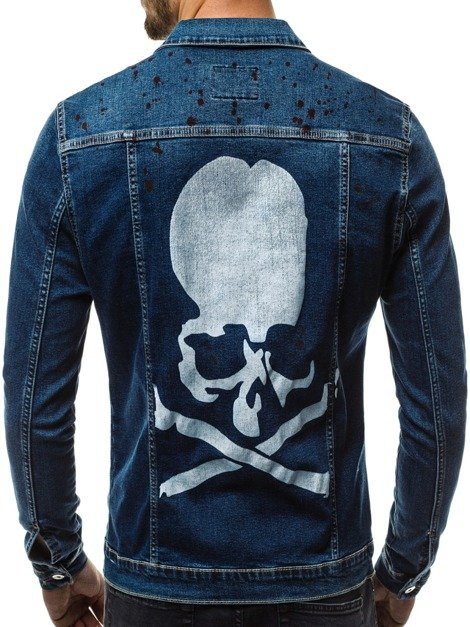 OZONEE OT/2052K Men's Denim Jacket - Blue