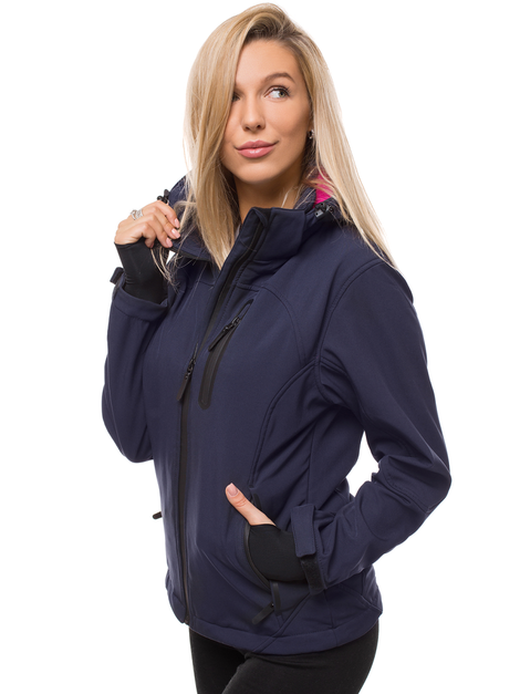Woman Softshell Jacket - Navy blue OZONEE N/4849