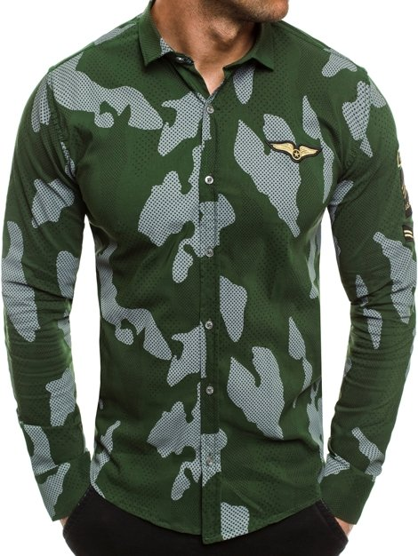 ZAZZONI 1113KZ Men's Shirt - Green