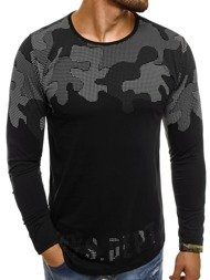 BREEZY 171403 Men's Long Sleeve T-Shirt - Black