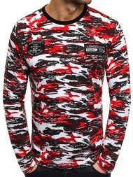 J.STYLE SX052 Men's Long Sleeve T-Shirt - Red