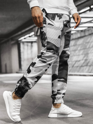 Men's Chino Joggers - Black-White OZONEE A/0952