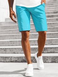 Men's Chino Shorts - Sky blue OZONEE OZONEE JB/JP1142