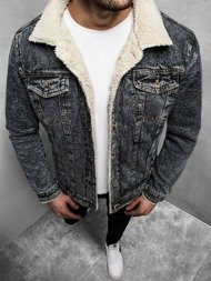 Men's Denim Jacket - Anthracite OZONEE JB/JP1109Z