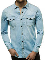 Men's Denim Shirt - Light Blue OZONEE R/3053