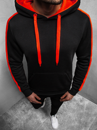 Men's Hoodie - Black-Red OZONEE JS/2012Z