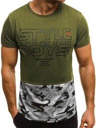 OZONEE JS/SS351 Men's T-Shirt - Green