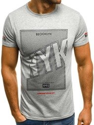 OZONEE JS/SS356 Men's T-Shirt - Grey