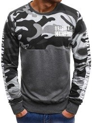 OZONEE JS/TT91 Men's Sweatshirt - Dark grey