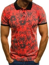 OZONEE MACH/208 Men's Polo Shirt - Red