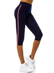 Women's Leggings - Navy blue OZONEE JS/1037/B4